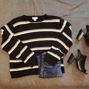 Christopher & Banks Black, Gold, &White Sweater